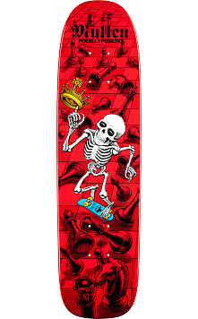 Bones Brigade® Mullen Chess Reissue Skateboard Deck Red - 7.4 x 27.625