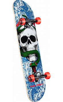 Powell Peralta Skull and Snake One Off Complete Skateboard Blue - 7.625 x 31.625