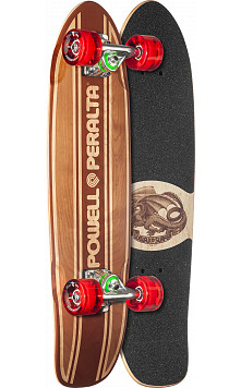 Powell Peralta Sidewalk Surfer Inlay Natural Cruiser Complete Skateboard - 7.75 x 27.20 WB 14.0