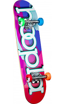 hoopla color camo Complete Skateboard - 7.5 x 28.65