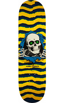 Powell Peralta Ripper Skateboard Deck Yellow - Shape 244 - 8.5 x 32.08
