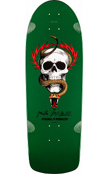 Powell Peralta McGill Skull and Snake Skateboard Deck Green - 10 x 30.125