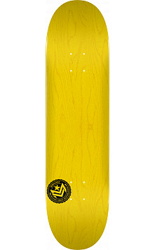 "MINI LOGO CHEVRON STAMP ""12"" SKATEBOARD DECK 112 YELLOW - 7.75 X 31.75"