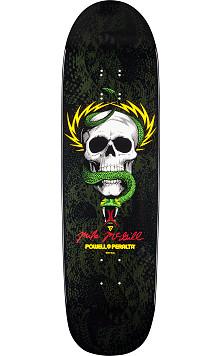 Powell Peralta McGill Snake Skin Fun Shape 2 Skateboard Deck Black/Green - 8.97 x 32.38