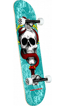 Powell Peralta Skull & Snake One Off Turquoise Complete Skateboard - 7.75 x 31.08