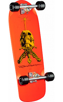 Ray Rodriguez Skull and Sword Custom Complete Skateboard Orange - 10 x 28.25