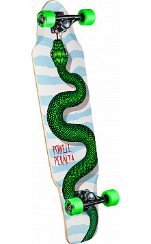 Powell Peralta Snake Pusher Complete Skateboard Assembly - 9.25 x 35.125
