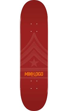 Mini Logo Quartermaster Deck 124 Maroon - 7.5 x 31.375
