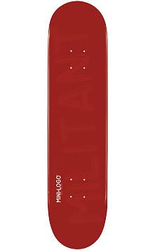 Mini Logo Militant Deck 124 Maroon - 7.5 x 31.375