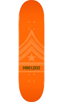 Mini Logo Quartermaster Skateboard Deck 191 Orange - 7.5 x 28.65
