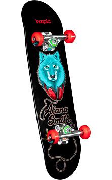 hoopla Alana Smith Wolf Complete Skateboard Black - 7.5 x 28.65