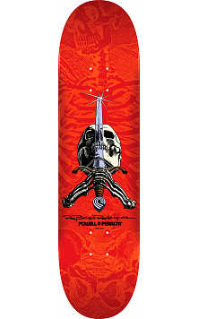 Powell Peralta Rodriguez Skull and Sword Skateboard Blue - 8.25 x 32.5