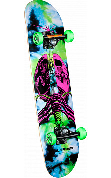 Powell Peralta Skull and Sword Complete Skateboard Tie Dye - 7.5 x 31.375