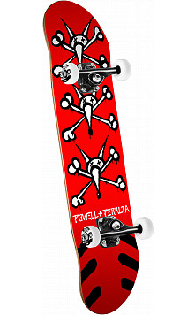 Powell Peralta Vato Rats '15' Skateboard Complete Red - 7 x 28