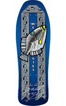 Bones Brigade McGill 8th Series Fish Signed BLEM Skateboard Deck
