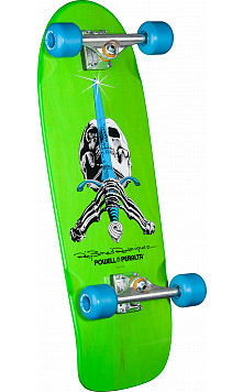 Powell Peralta Skull and Sword Complete Assembly Green - 10 x 30