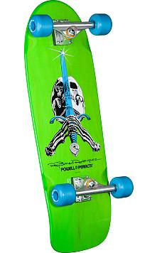Powell Peralta Skull and Sword Custom Complete Skateboard Green - 10 x 30