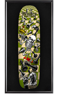 Bones Brigade® Shadowbox Mullen Chess Blem Skateboard Deck Natural - Signed by Geoge/Stacy