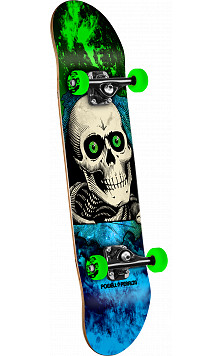 Powell Peralta Ripper Storm Skateboard Green/Blue - 7 x 28