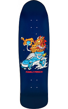 Powell Peralta  Half Cab Dragon Skateboard Deck Navy - 9 x 31.9