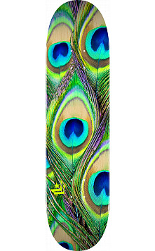 "MINI LOGO PEACOCK FEATHER ""18"" SKATEBOARD DECK 244 K20 - 8.5 X 32.08"