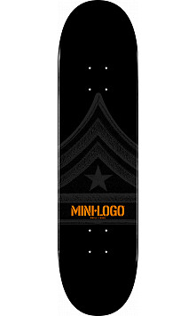 Mini Logo Quartermaster Deck 124 Black - 7.5 x 31.375