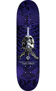 Powell Peralta Rodriguez Skull and Sword Skateboard Deck Purple - Shape 244 - 8.5 x 32.08