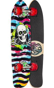Powell Peralta Sidewalk Surfer Tie Dye Ripper Cruiser Complete Skateboard - 7.75 x 27.20 WB 14.0
