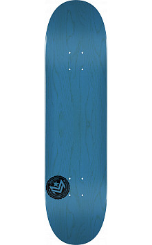 "MINI LOGO CHEVRON STAMP 2 ""13"" SKATEBOARD DECK 244 BLUE - 8.5 x 32.08"