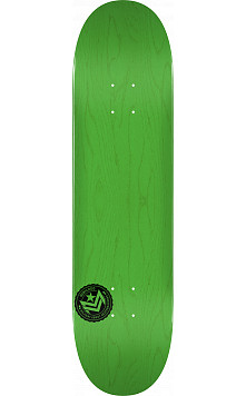 "MINI LOGO CHEVRON STAMP 2 ""13"" SKATEBOARD DECK 244 GREEN - 8.5 x 32.08"