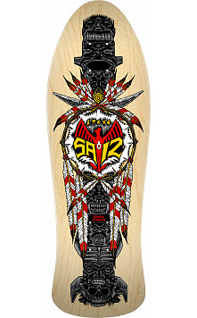 Powell Peralta Steve Saiz Totem Skateboard Deck Natural - 10 x 30