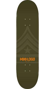 Mini Logo Quartermaster Skateboard Deck 112 Green - 7.75 x 31.75