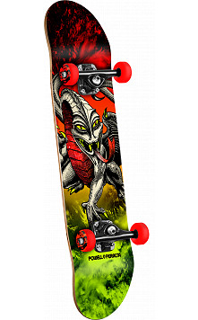 Powell Peralta Cab Dragon Storm Complete Red/Lime - 7.75 x 31.75