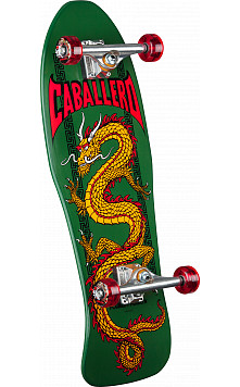 Caballero Chinese Dragon Custom Complete Skateboard Green - 10 x 30