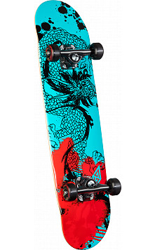 Powell Golden Dragon Samurai Dragon III Complete Skateboard - 7.75 x 31.75