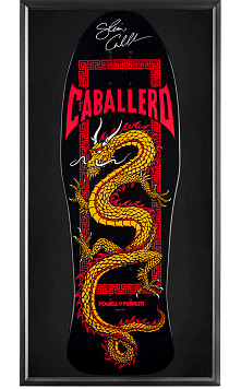 Bones Brigade® Shadowbox Caballero Skateboard Deck Black - Signed by Cab
