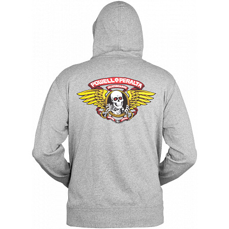 Powell-Peralta Winged Ripper Hooded Zip - Gray