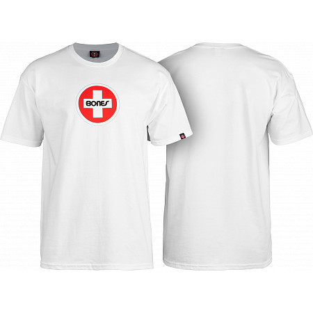 Bones® Bearings Swiss Circle T-Shirt -White