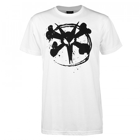 BONES WHEELS Circle Rat T-shirt - White