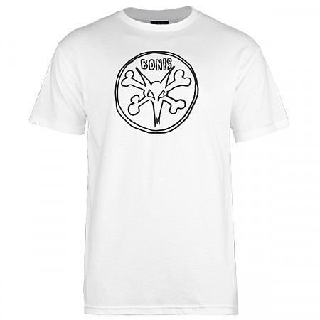 BONES WHEELS Pope Rat T-shirt - White