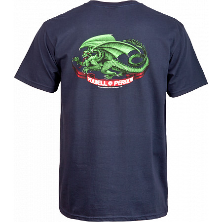 Powell-Peralta Oval Dragon T-shirt - Navy