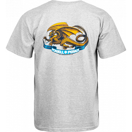 Powell-Peralta Oval Dragon T-shirt - Gray