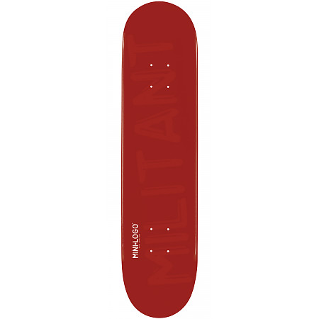 "Mini Logo Deck 124 7.5"" Maroon"