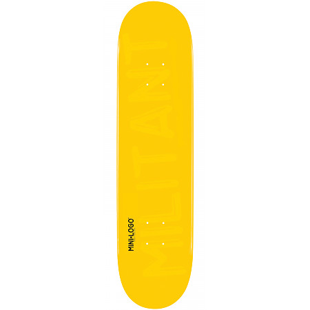 "Mini Logo Deck 124 7.5"" Yellow"