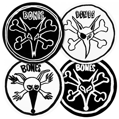 BONES WHEELS Pope Rat Sticker (Single)