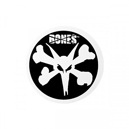 "BONES WHEELS 4"" Circle Sticker (Single)"