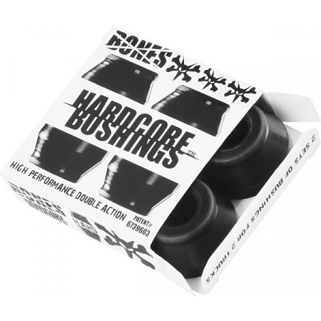 BONES® Hardcore Bushings® - Hard - Black (2 sets)