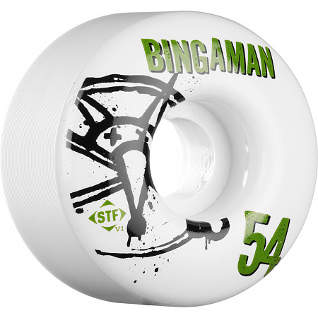 BONES WHEELS STF Pro Bingaman Numbers 54mm 4pk