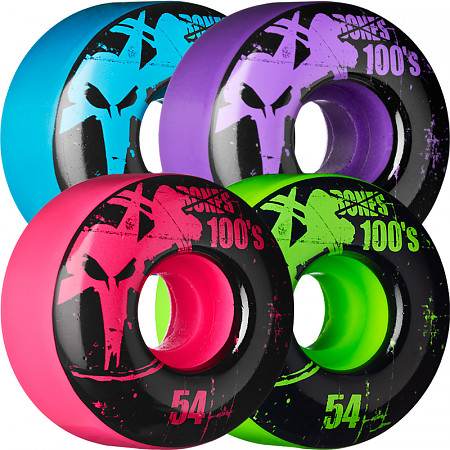 BONES WHEELS 100 Slims 54mm - Assorted Colors (4 pack)