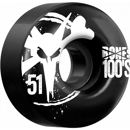 BONES WHEELS 100 Black 51mm 4pk